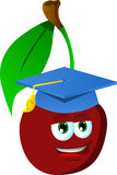Cherry wearing graduation cap Stock Photography