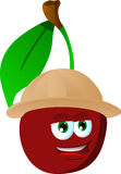 Cherry wearing scout or explorer hat Stock Image