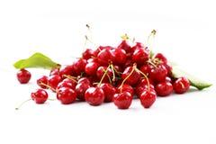 Cherry on white background Stock Photos
