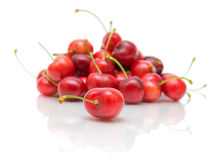 Cherry on white background close-up Stock Photography
