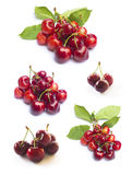 Cherry on white background Stock Photos