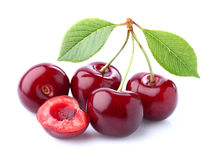 Cherry on a white background Stock Image