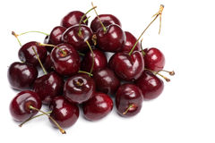 Cherry on white close up Royalty Free Stock Images