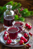 Cherry wine Royalty Free Stock Image