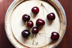 Cherry On Wood Royalty Free Stock Photography