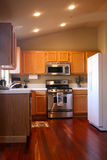 Cherry Wood Kitchen Stock Photography