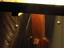 Cherry Wood Table Lamp Post stock photos