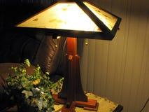 Cherry Wood Table Lamp stock photo