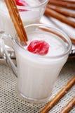 Cherry yogurt Stock Image