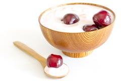Cherry yogurt Royalty Free Stock Photo