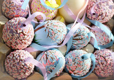 cherryblossom eastereggs春天假日装饰品装饰庆祝季节工艺 免版税库存照片