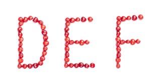 Cherrybokstäver Arkivbild