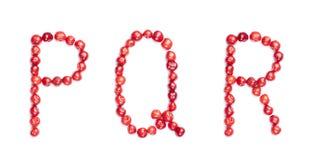 Cherrybokstäver Arkivfoto