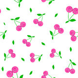 Cherrycartoon seamless  pattern Stock Photos