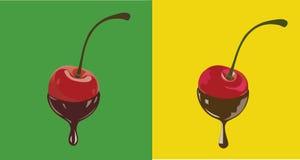 Cherrychoklad Arkivfoton