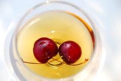 Cherrycognac Arkivfoto