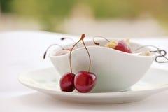 Cherryefterrätt Royaltyfri Fotografi