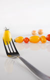 Cherryet dates tomater Arkivbild
