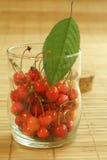 Cherryexponeringsglas Royaltyfri Foto