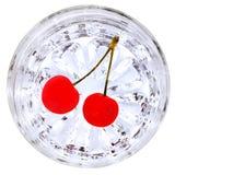 Cherryexponeringsglas Royaltyfria Foton