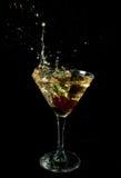 Cherryexponeringsglas Royaltyfri Fotografi