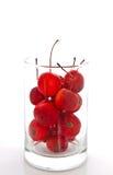 Cherryexponeringsglas Arkivbild
