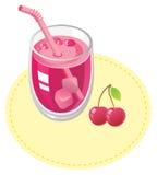 Cherryfruktsaft Arkivfoto