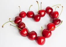 Cherryhjärta Arkivfoto