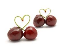 Cherryhjärtaform Royaltyfria Foton