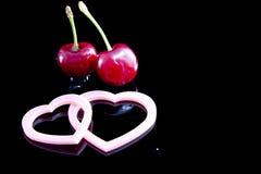 Cherryhjärtor fotografering för bildbyråer