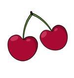 Cherryillustration Arkivfoto
