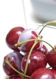 Cherryiv mjölkar royaltyfria bilder