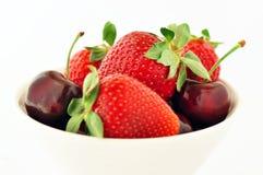 Cherryjordgubbar Royaltyfria Bilder