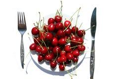Cherryplatta Royaltyfria Bilder