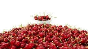 Cherrys frescos concepto de la comida 3d Animación realista Aislante en blanco stock de ilustración