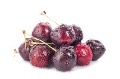 Cherrys ha isolato su fondo bianco Fotografia Stock Libera da Diritti