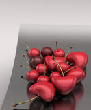 Cherrys Heart Royalty Free Stock Photo