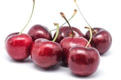 Cherrys. Macro photograph of some cherries on white background Stock Image