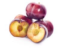 Cherrys su fondo bianco fotografie stock