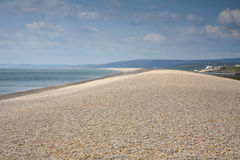 Chersil海滩,多西特 库存照片