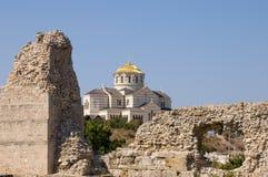 chersonesos fördärvar royaltyfria bilder