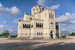 Chersonesus的正统大教堂 库存图片