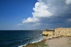 Chersonesus,黑海海岸 库存图片