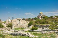 Chersonesus dichtbij Sebastopol in de Krim, de Oekraïne royalty-vrije stock afbeeldingen