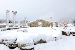 chersonesusen fördärvar snow arkivbilder