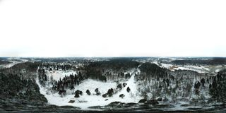 Chertanovo区,莫斯科360度全景鸟瞰图  库存照片