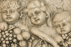 Cherub. Angels from Stone carvings Stock Image