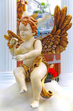 Cherub angel christmas decoration Stock Image