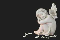Cherub angel  sleeping Stock Image