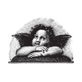Cherub do amor de Raphael, gravura vectorized Fotografia de Stock